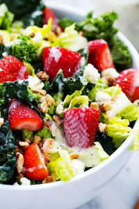 strawberry-kale salad
